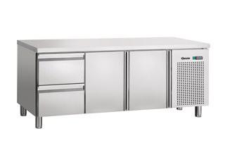 Bartscher 110805 koelwerkbank 2 deuren 2 laden