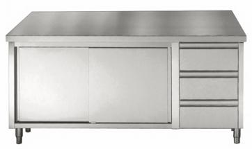 Werktafel schuifdeuren laden 1600mm