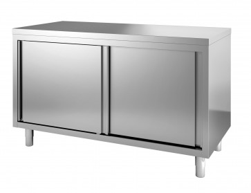 Werktafel draaideuren + rand 800x700mm